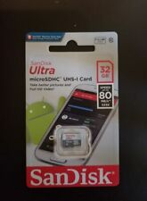 SanDisk Ultra 32GB  Micro SDHC UHS-1 CARD (32GB SD Card) Speed 80 MB/S