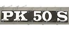 """TARGHETTA SCRITTA FREGIO STEMMA """"PK50XL"""" LATERALE VESPA PK 50 XL"""