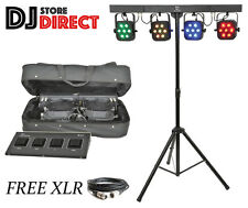 QTX PB-7 High Power Foldable RGB LED LIGHT Par BAR INC Carry Case PB7 + FREE XLR