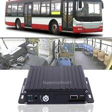 Car Bus RV Mobile HD 4CH DVR Realtime SD Card Video/Audio Recorder w/IR Remote