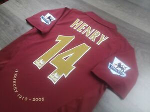 [Retro] - Arsenal Home 2005/06 with 14 HENRY and Patches Size M