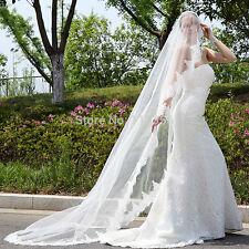 White / Ivory Wedding Veils Long Lace Bridal Wedding Accessories Mantilla Veil