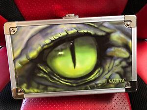 """Vaultz Locking Pencil Supply Box Crocodile Eye with Keys 5.5x8.25x2.5"""" NWT"""