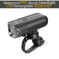 1000 Lumens Front Bicycle Light Bike Headlight USB Rechargeable LED MTB Cycling