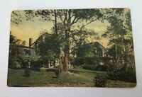 Lenox MA Massachusetts Postcard YOKUN RICHARD GOODMAN ESQ Home Rare Hand Colored