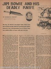Jim Bowie Knife Original Stories - Nearly 50 Years Old,Black,Blanchard,Crockett