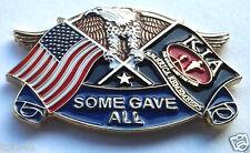 KIA EAGLE & FLAGS SOME GAVE ALL Military Veteran  Hero Hat Pin P12601 EE