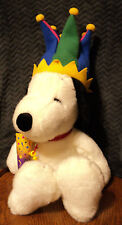 "Macy's Snoopy Jester Plush 24"" with Hat & Party Horn"