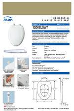 Bemis 1200SLOWT-125 Elongated Plastic Slow Close Toilet Seat - Avocado