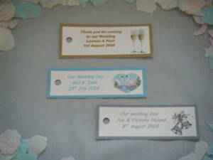20 personalised wedding engagement party favor tags