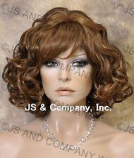 HUMAN HAIR Blend Wavy Brown Blonde Mix Versitile wig WBSE 27-4-30