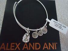 ALEX and ANI OYSTER II Rafaelian Silver Finish Bangle New W/ Tag Card & Box