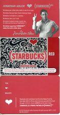 RETIRED STARBUCKS RED JONATHAN ADLER GIFT CARD with INSERT  CARD