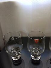 Heavy Clear glass Kelsco glasses made in Poland with air bubble x4