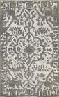 Vintage Distressed Traditional Area Rug Handmade Oriental Ivory Gray Wool 3x5 ft