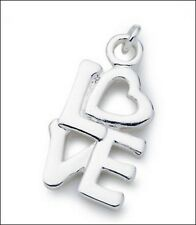 Love Charm/Pendant with Silver Plate Chain