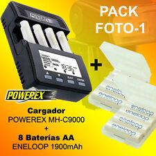 PHOTO-1 - Chargeur POWEREX MH-C9000 + 8 Batteries Eneloop 1900mAh