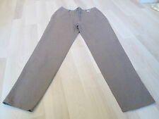 BODEN LADIES TAUPE CHIC CROPPED LINEN TROUSERS SIZE 10P