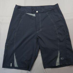 Pearl Izumi MTB Shorts Size Medium Black Baggy Unlined Cycling Mountain Bike