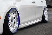 RLD Seitenschweller Schweller Sideskirts ABS für VW Polo 6R