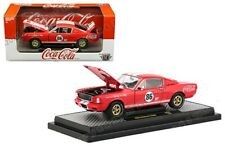 Coca-Cola Coke 1965 Shelby GT350R Fastback Diecast 1:24 M2 Machines 8 inch Red