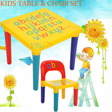 New Kids Table & Chairs Play Set Toddler Child Toy Activity Furniture In-Outdoor
