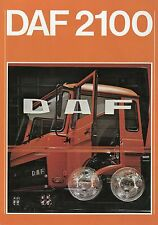 Prospekt DAF 2100 9 77 1977 Nutzfahrzeugprospekt LKWs Trucks brochure brosjyre