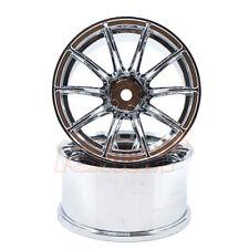 Overdose RAYS Gram Lights 57 Transcend OFFSET 7 1:10 Drift Wheels Chrome #OD2382