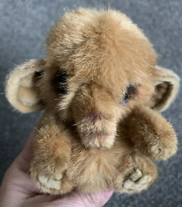 """OOAK Faux Fur Jointed Detailed Artist Elephant 4"""" Tall Adorable Buy Now NR"""