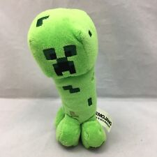 "MoJang Minecraft Creeper Green Black Silver Plush 7"" Toy Lovey 2014"