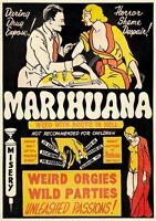 Marihuana moviel VINTAGE RETRO ADVERTISING ENAMEL METAL TIN SIGN WALL PLAQUES
