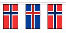 More details for norway friendship flag polyester bunting - premium quality