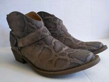 Coconuts cowboy booties women's Snake Print leather Booties 6.5 ..