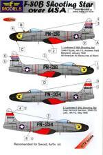 LF Models Decals 1/72 LOCKHEED F-80B SHOOTING STAR w/Masks & Resin Drop Tanks