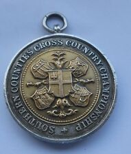 gold in sliver 1914 southern county championship medal highgate harriers