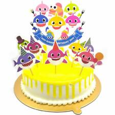 Baby Shark Birthday Cake Topper , Cute Shark Cupcake Toppers For Children