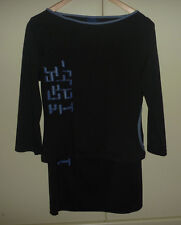 SODA top & knee length black pencil skirt set VGUC, Lux Sport styling M