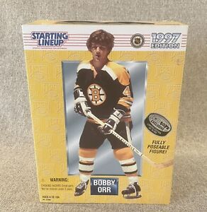 1997 Starting Lineup Bobby Orr Boston Bruins 12 inch tall Poseable Figure