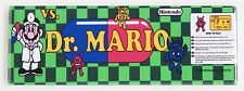Dr. Mario Marquee FRIDGE MAGNET (1.5 x 4.5 inches) arcade video game doctor