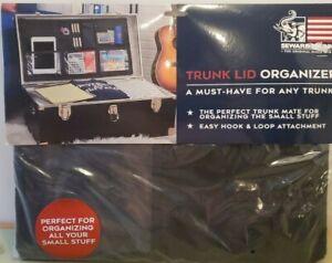 Seward Trunk Lid Organizer Hook & Loop Application Black Clear Mesh Pockets New