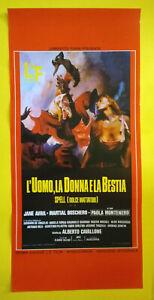 Locandina Cinematografica(Riproduzione) L'UOMO,LA DONNA E LA BESTIA Mattatoio