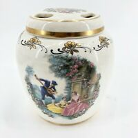 Lord Nelson Pottery Victorian Silver Jubilee Potpourri Jar Ginger Jar Gold Trim