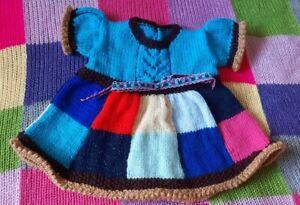 Hand Knitted Patchwork Dress Newborn