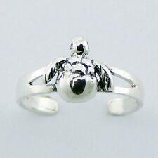 BULK LOT QTY 10  925 Sterling Silver toe ring genuine silver turtle adjustable