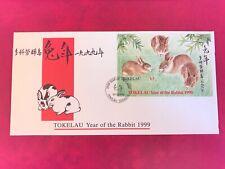 TOKELAU 1999 FDC YEAR OF THE RABBIT MINISHEET