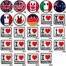 #2350R Smiley Face Nation Country Flag Embroidered Sew Iron on Patch Badge Craft