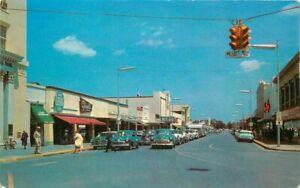 Sarasota Florida Main Street Automobiles 1950s Leahey Tichnor Postcard 21-4736