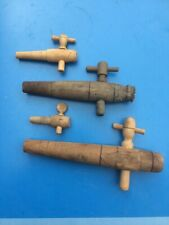 lot de 4 Ancien robinet en bois pour tonneau buis chene