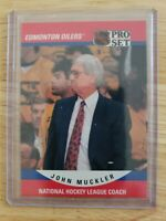 1990-91 Pro Set NATIONAL HOCKEY LEAGUE COACH John Muckler Edmonton Oilers #665