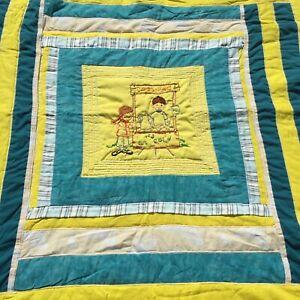 "Kool-Ade Embroideried Quilt Handmade Crib Blanket Comforter 39"" x 45"""